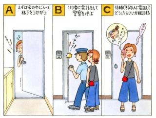 【心理テスト】家に帰ってくると玄関の鍵が開いています。あなたはどうする?