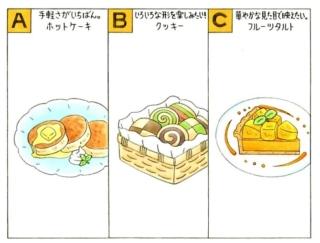 【心理テスト】おやつを作ります。あなたが作りたいのは、次のうちどれ?