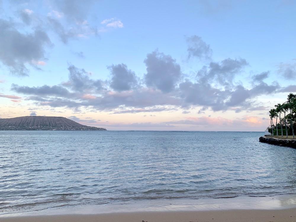 ハワイの美しい海