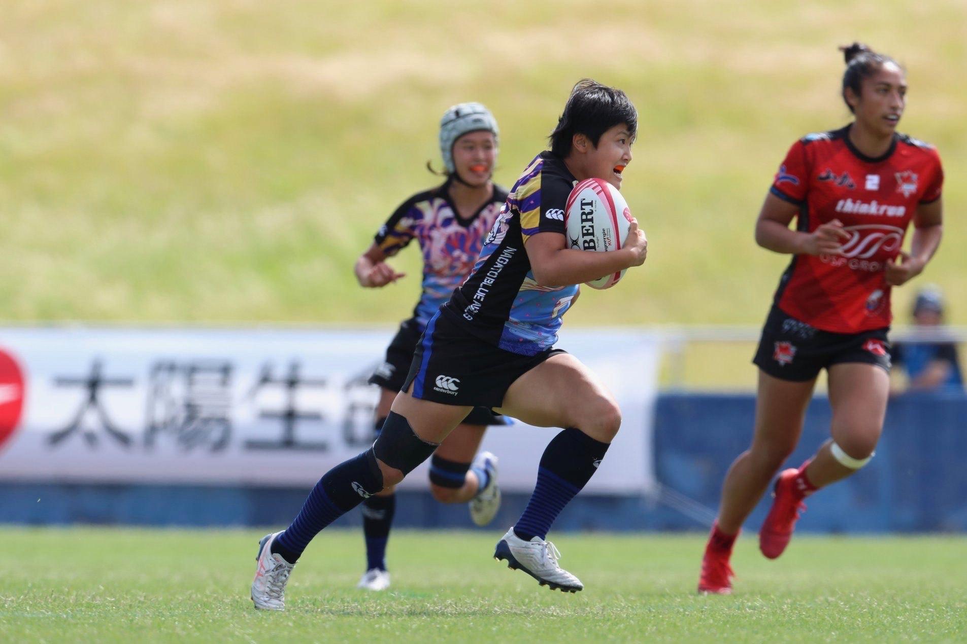 試合中のラグビー日本代表・薮内あゆみ選手3