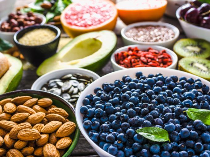 ブルーベリーなどの抗酸化物質が含まれる食材