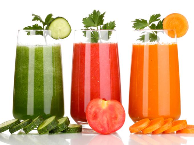 3種類の野菜ジュース