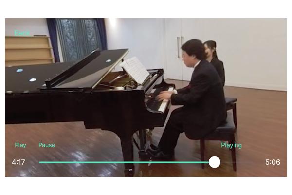 ピアノ伴奏にフォーカスを当てた時の画像