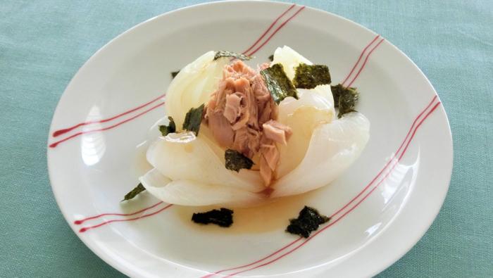 タマネギとツナのレンチン蒸し!もう1品欲しいときの簡単レシピ