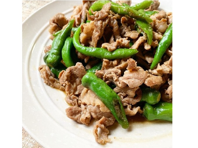 豚肉とシシトウの炒め物画像