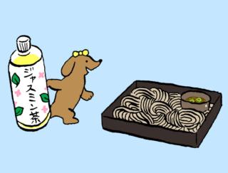 「ざるそば+ジャスミン茶」でイライラ解消! #コンビニちょい足し薬膳