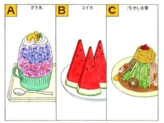 夏の食べもののイラスト