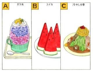 【心理テスト】あなたがこの夏食べたいものは、次のうちどれ?
