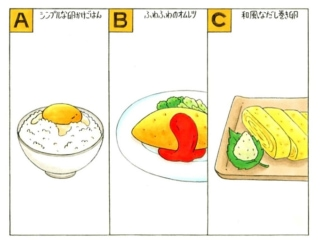 卵料理のイラスト