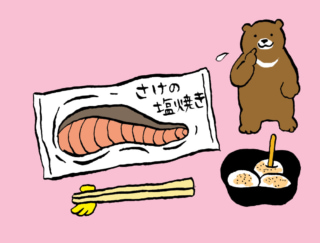 「さけの塩焼き+わらびもち」で生理痛を緩和! #コンビニちょい足し薬膳