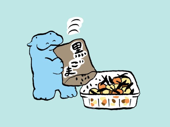 「ひじきの煮もの+黒ごま」で髪のハリ・コシをアップ! #コンビニちょい足し薬膳