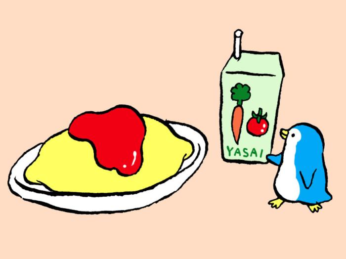 「オムライス+野菜ジュース」で貧血を予防! #コンビニちょい足し薬膳