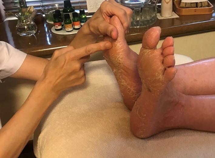 足裏と手の画像