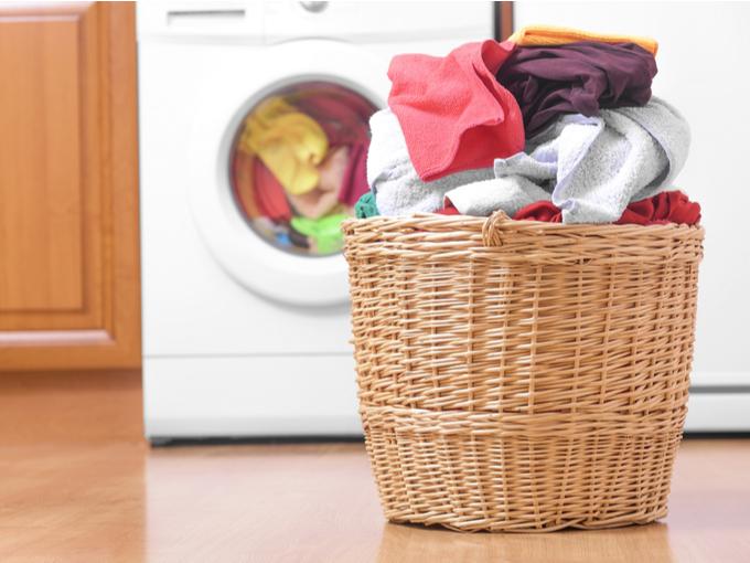 たまった洗濯物