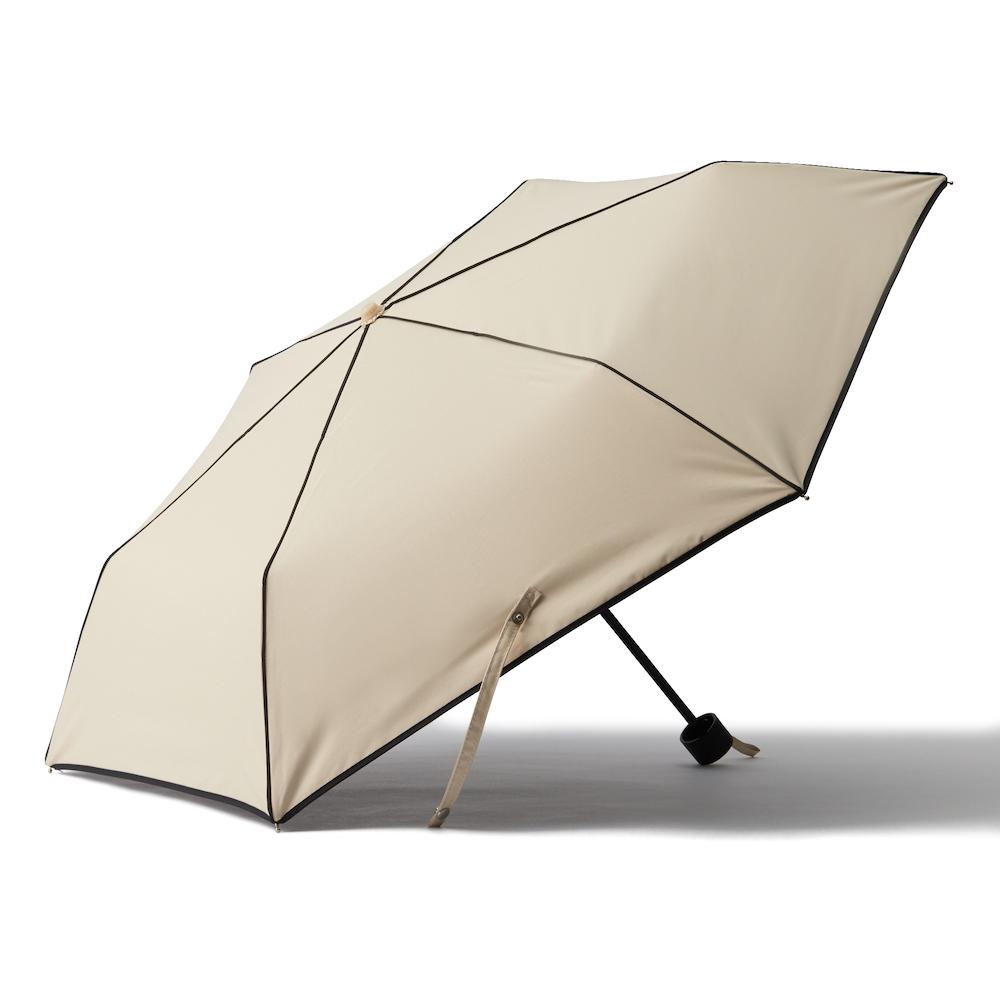 遮光パイピング 日傘 MINI 47cmベージュ