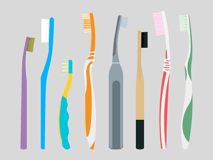 いろいろな歯ブラシのイラスト