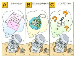 【心理テスト】小学生のときに埋めたタイムカプセルを開けます。中に入っていたものとは…?