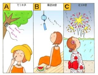 【心理テスト】あなたが夏を感じる音は、次のうちどれ?