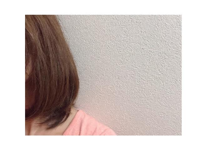 乾燥後の髪