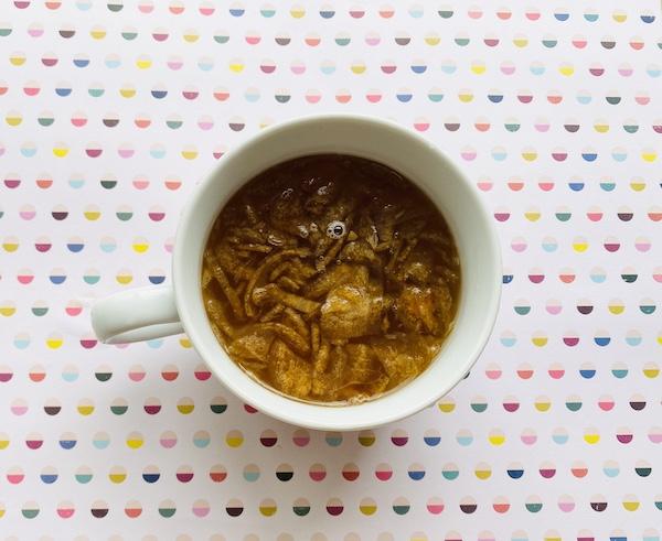 完成した玉ねぎスープ