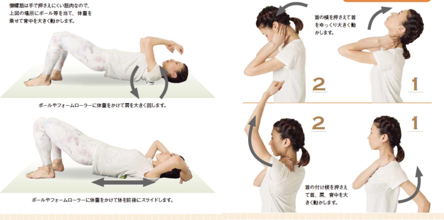 首のこった部分を圧迫する筋膜アプローチ
