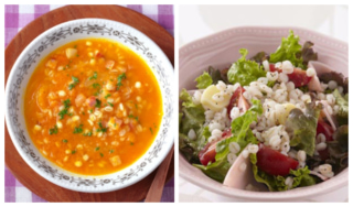 スープとサラダの画像