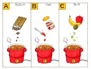 【心理テスト】カレーを作ります。隠し味に入れるとしたら何を選ぶ?