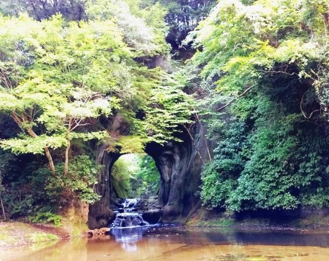 濃溝の滝正面