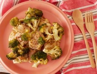 混ぜて焼くだけ! 簡単おしゃれなメイン料理「鶏肉とブロッコリーのマスタード焼き」#今日の作り置き