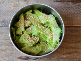 使い道に困る茎もひと工夫でおいしい副菜に変身! 「ブロッコリーの茎のナムル」 #今日の作り置き