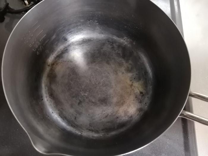 まあまあキレイになった鍋の画像