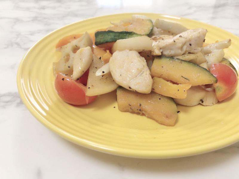根菜とチキンのグリル