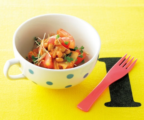 トマト納豆キムチ画像