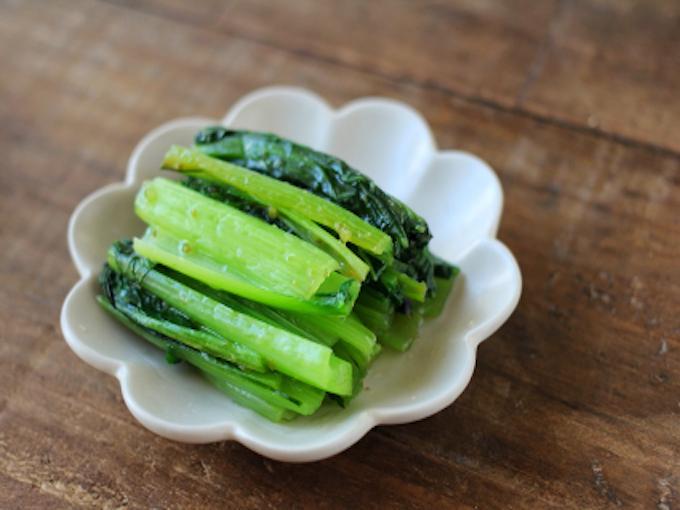 小松菜のゆずこしょう蒸し