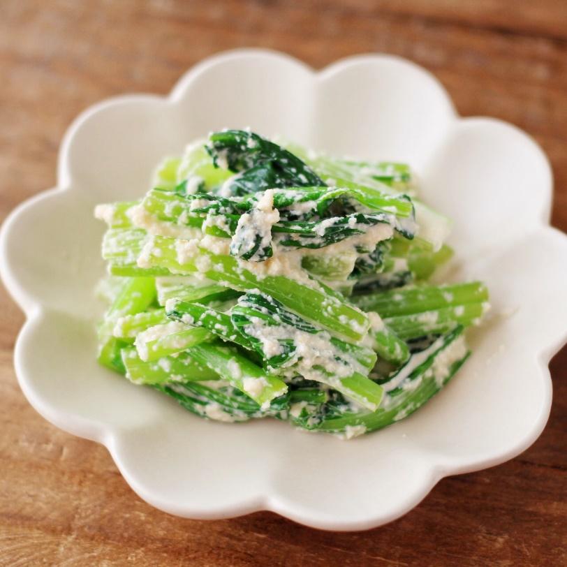 小松菜のおからマヨ和え