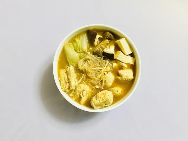 海老仕立て味噌鍋つゆで作った鍋