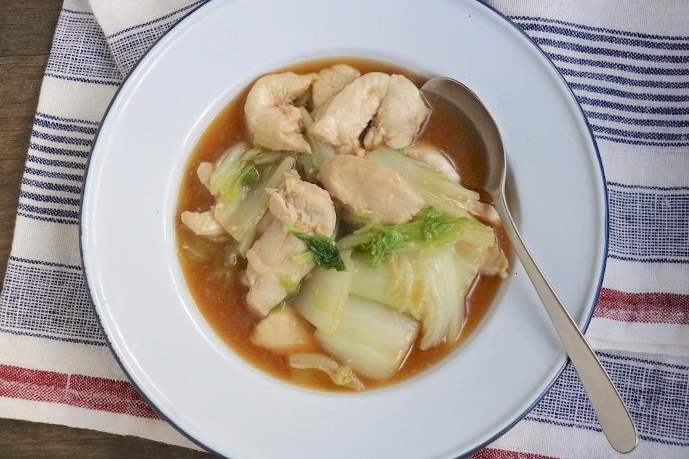 鶏むね肉と白菜の塩麹とろみ煮込み