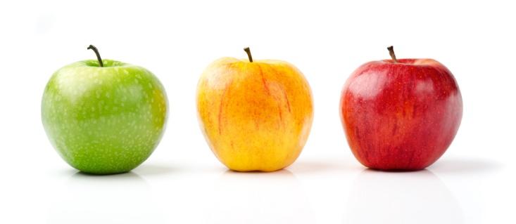 3つのりんごの画像