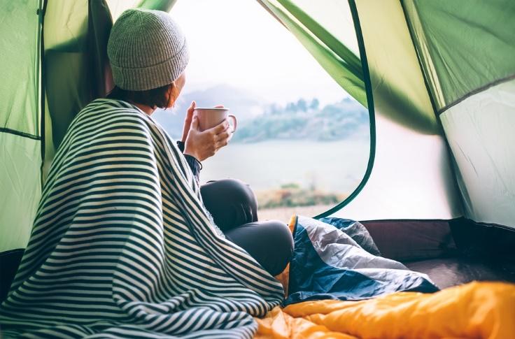 ひとりキャンプの画像