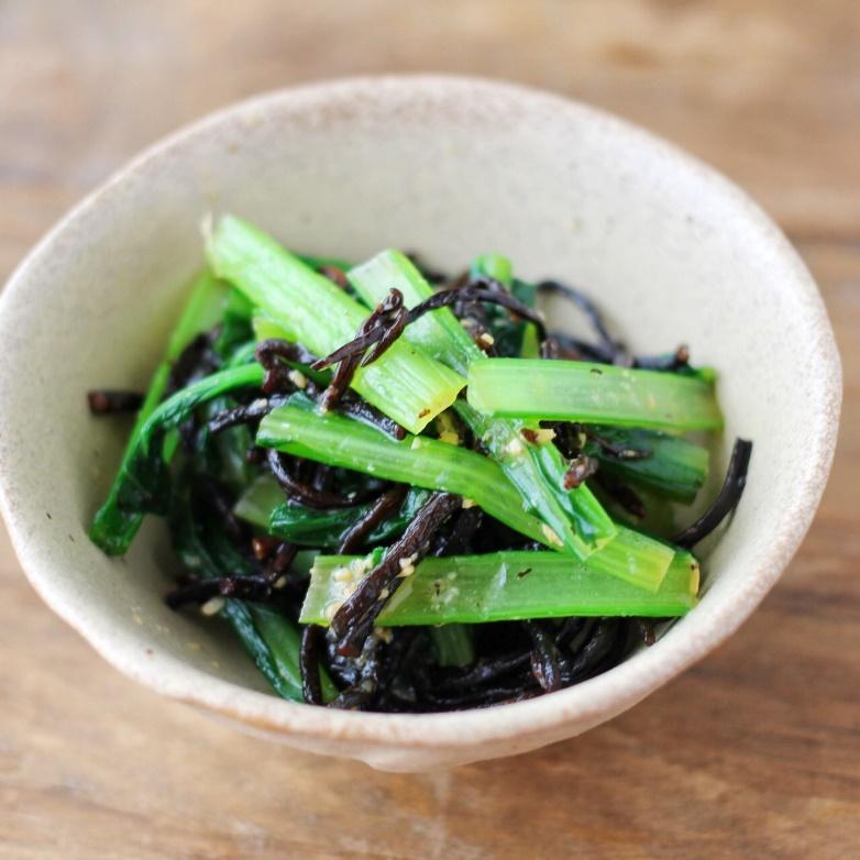 小松菜とひじきのみそ和え
