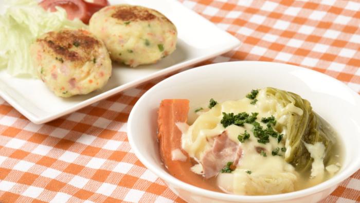 じゃがいも、にんじん、タマネギを使い切るスープ&焼き物レシピ