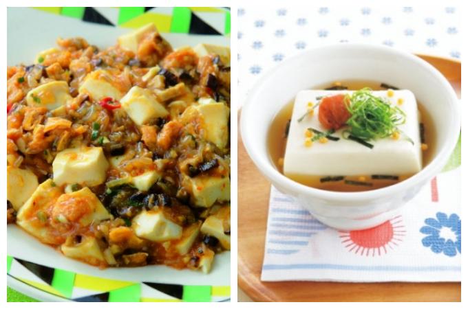 ベジマーボー豆腐と豆腐茶漬けの画像