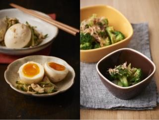 半熟卵とささみの甘酢漬けと無限ブロッコリー