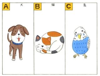 【心理テスト】友人のペットを預かります。その動物とは次のうちどれ?