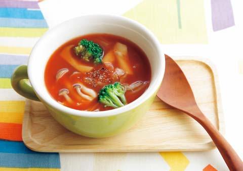 きのこトマトスープ