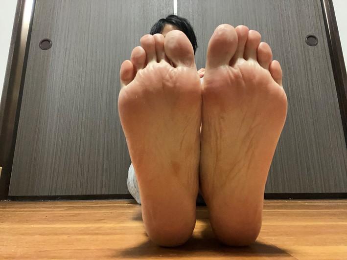 足刺激後(しわがよっている感じ)の画像