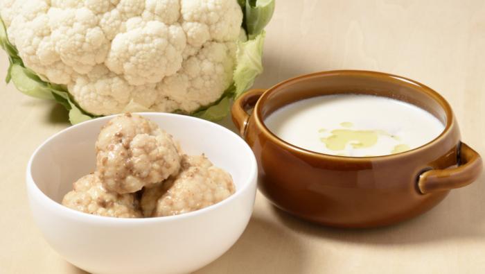 [カリフラワーのレシピ]トロッとスープ&カリッとサラダが絶品