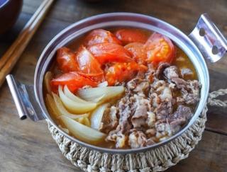 酸味とコクの甘辛煮汁が最高~!「たっぷりトマトの牛すき煮」 #今日の作り置き