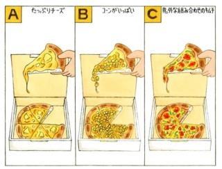 【心理テスト】宅配ピザを注文します。あなたが選んだトッピングは?