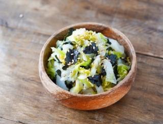 シンプルだけど、風味があっておいしい~♪「白菜とのりのナムル」 #今日の作り置き